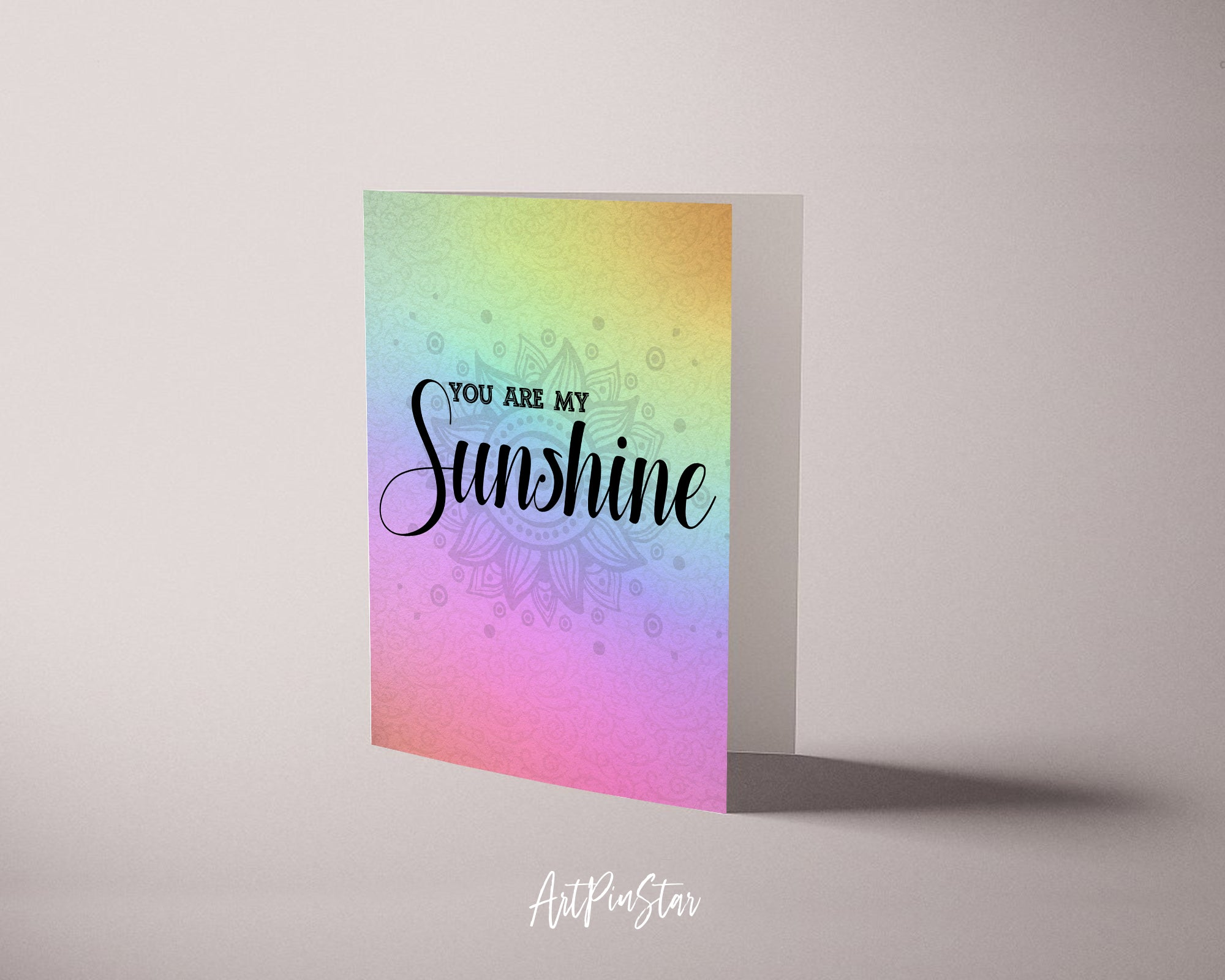 You are my sunshine Lyrics Quote Customized Greeting Cards