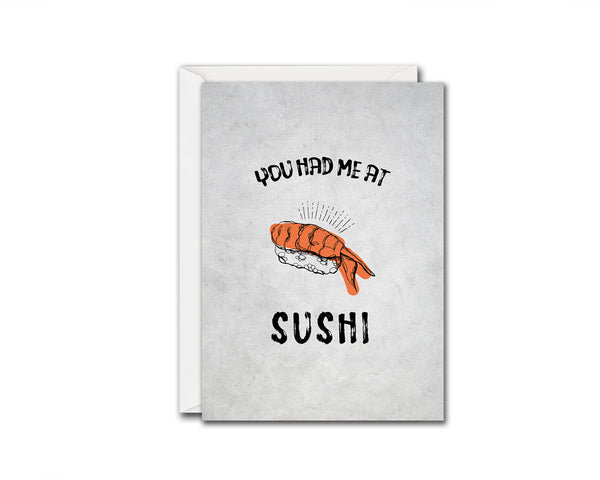 You had me at Sushi Food Customized Gift Cards