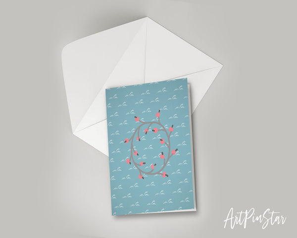 Alphabet Forest Letter O Animal Monogram Note Cards
