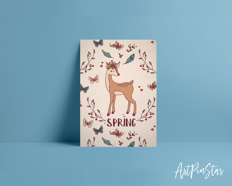 Spring Deer Animal Greeting Cards