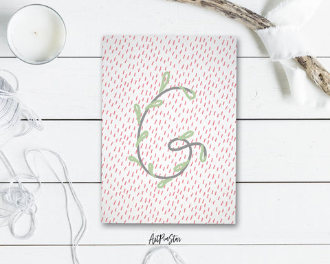 Alphabet Forest Letter G Animal Monogram Note Cards