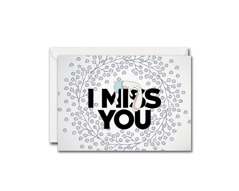 I Miss You Relationship Customized Gift Cards