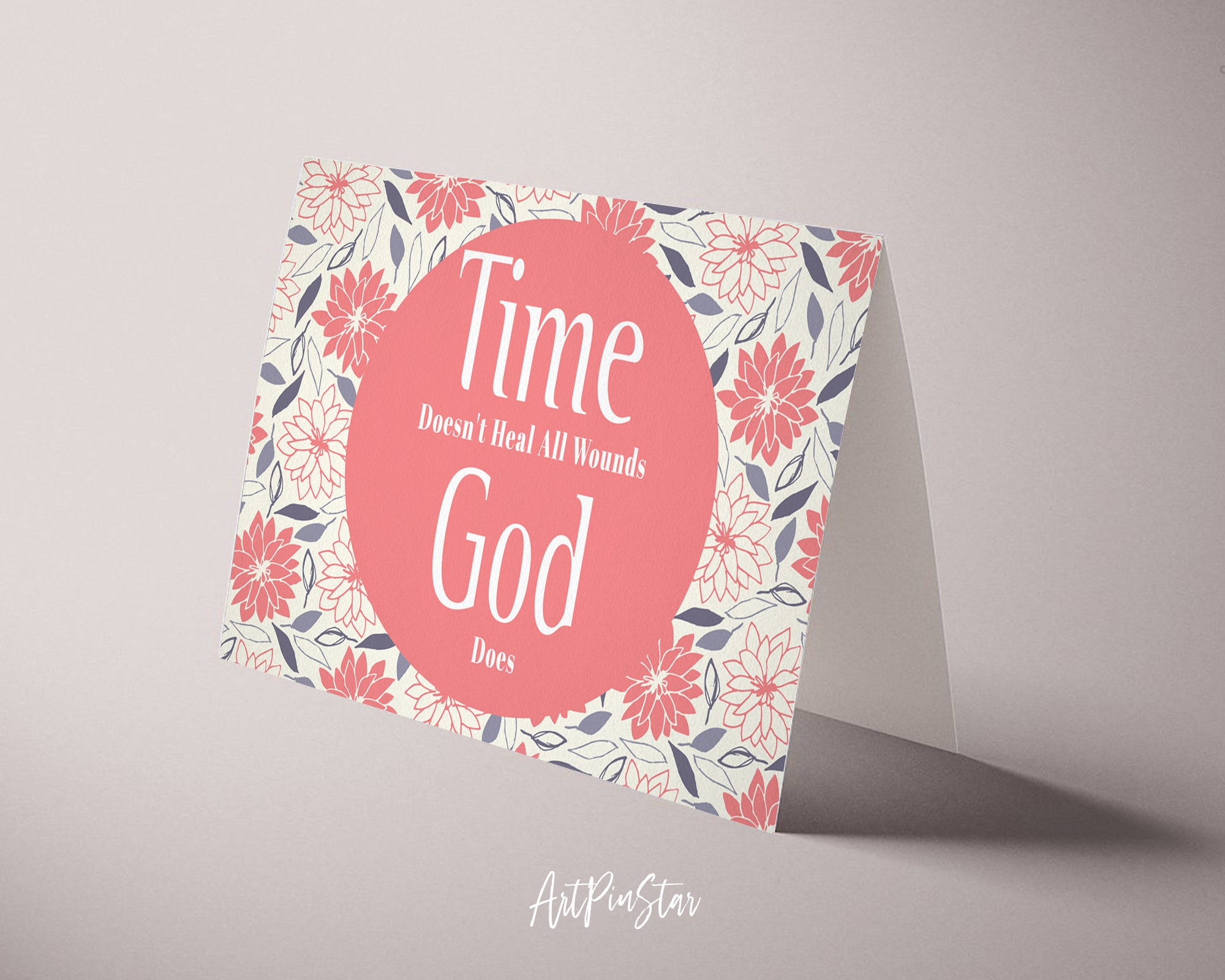 Time doesn't heal all wounds God does Bible Verse Customized Greeting Card