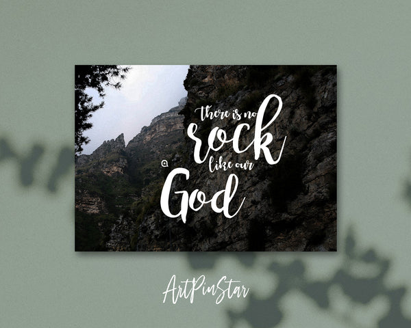 There is no rock like our God Bible Verse Customized Greeting Card