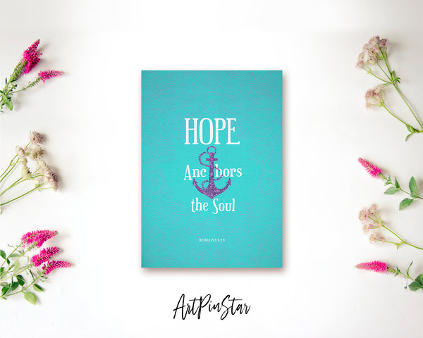 Hope anchors the soul Hebrews 6:19 Bible Verse Customized Greeting Card