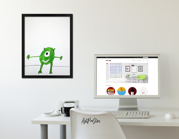 Monster Inc Mike colorful painting Kids Art