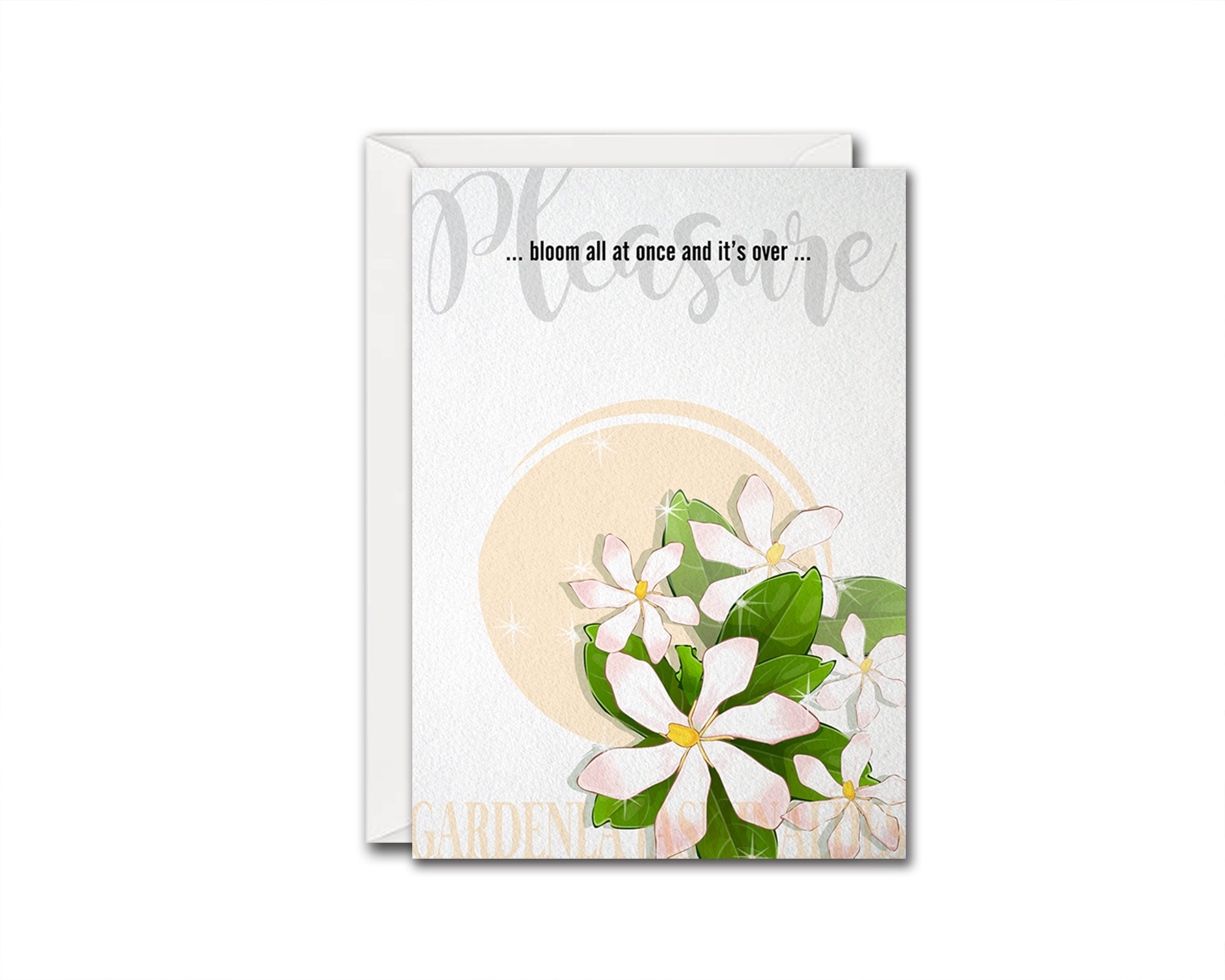 Gardenla Jasminaldes Flower Meanings Symbolism Customized Gift Cards