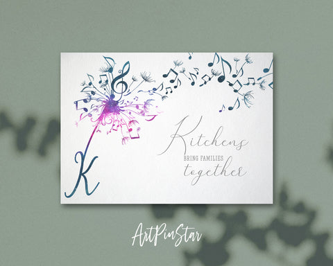 Inspiring Music Quote Letter K Symbol Kitchens bring families together