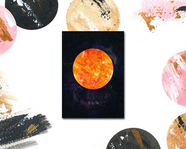 Sun Planet Universe Space Solar System Customizable Greeting Card
