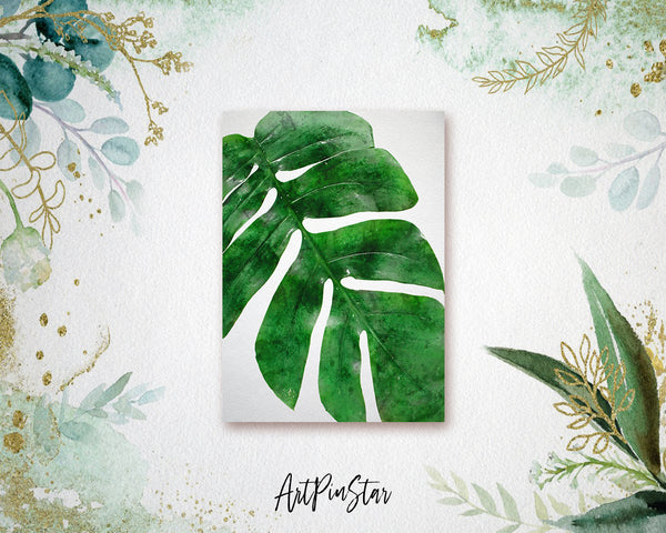 Tropical palm leaf Botanical Garden Customized Greeting Card