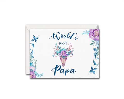 World's best papa Father's Day Occasion Greeting Cards