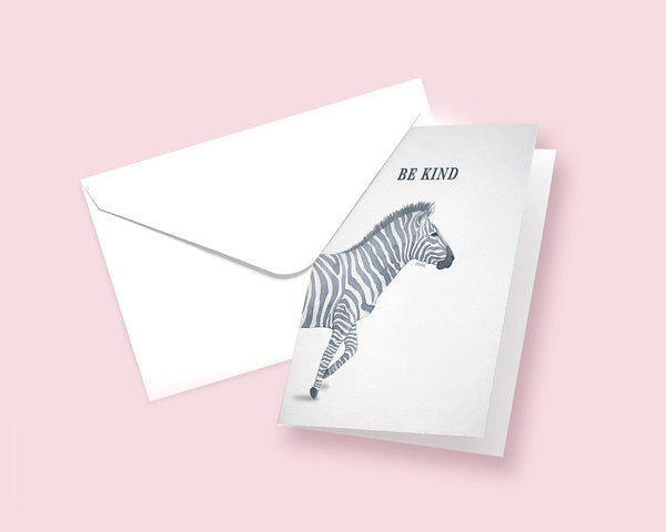 Be Kind Zebra Animal Greeting Cards