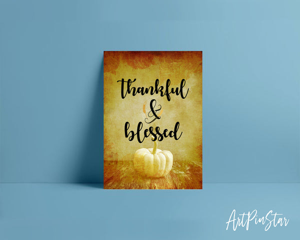Thankful & Blessed Bible Verse Customized Greeting Card