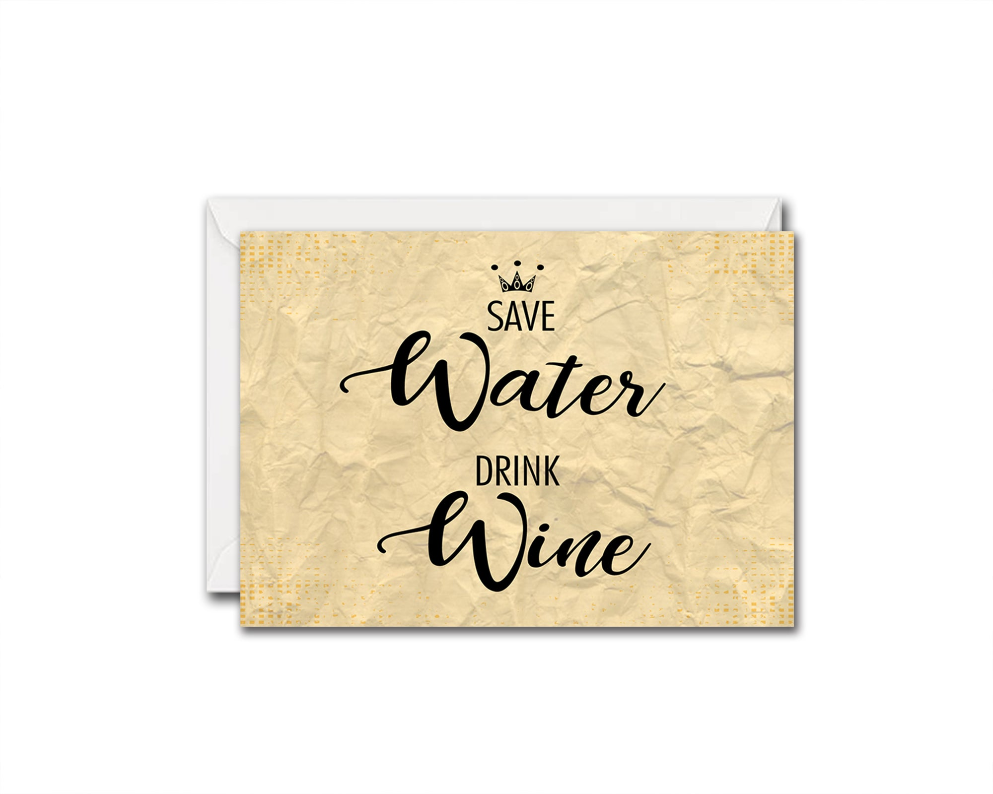 Save water drink wine Funny Quote Customized Greeting Cards
