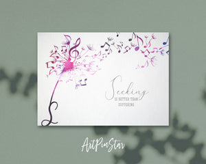 Inspiring Music Quote Letter S Symbol Seeking is better than suffering