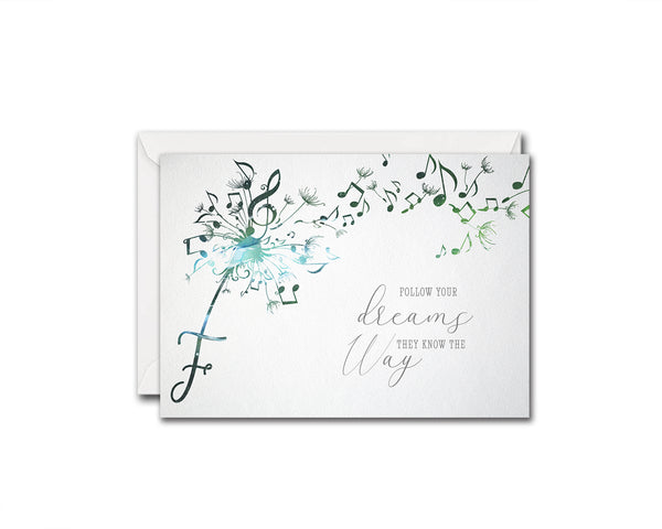 Inspiring Music Quote Letter F Symbol Follow your dreams they know the way