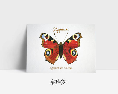 Happinessis flying with your own wings Butterfly Animal Greeting Cards