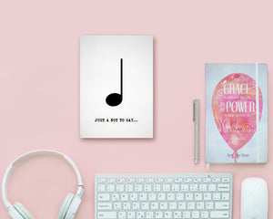 Just a little note to say Quarter Note Quarter Note Music Gift Ideas Customizable Greeting Card
