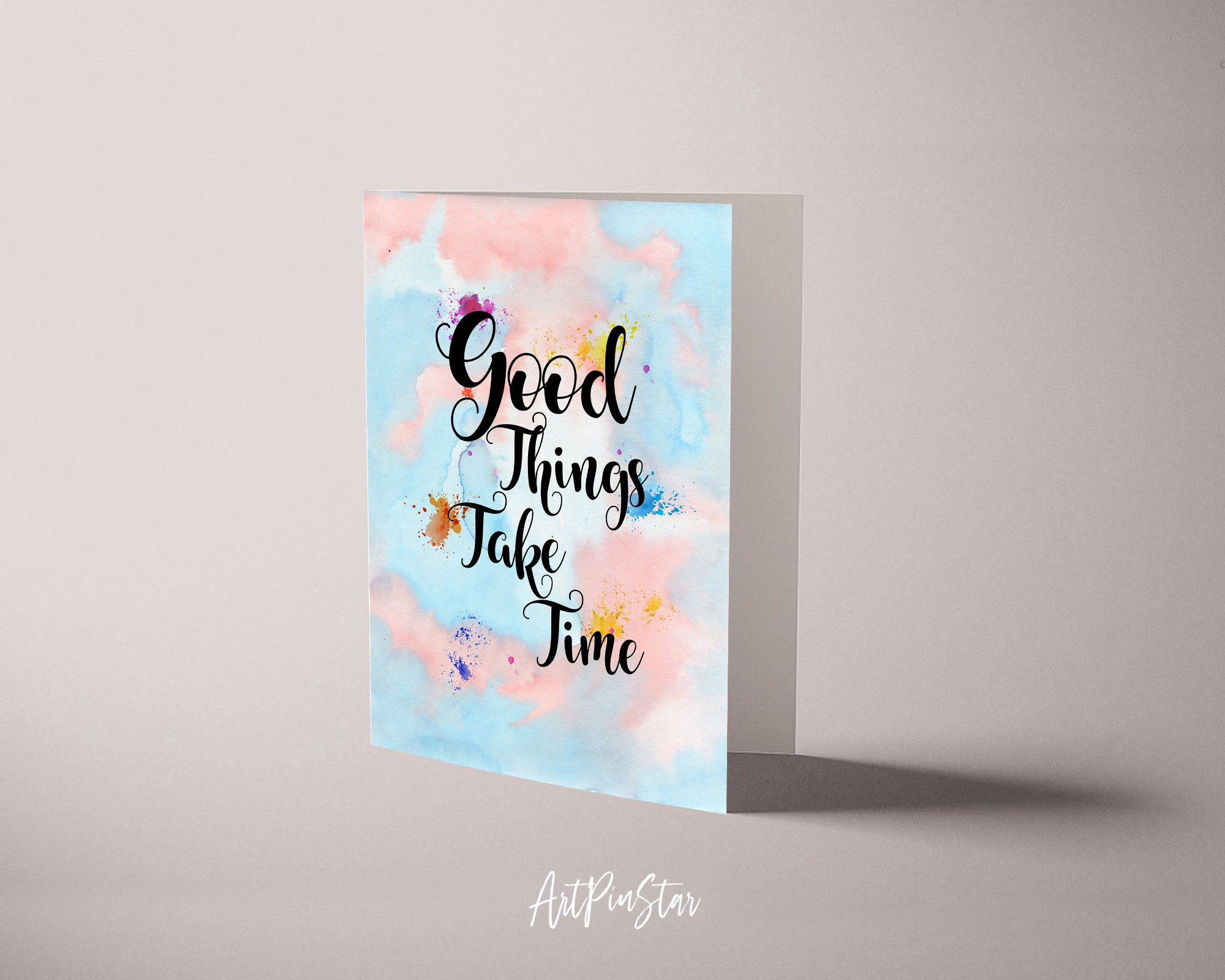 Good things take time Robin Sharma Powerful Quote Customized Greeting Cards