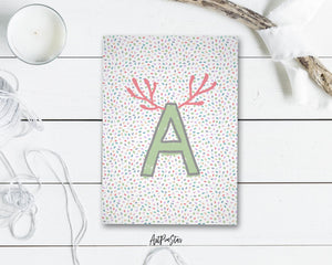 Alphabet Forest Letter A Animal Monogram Note Cards
