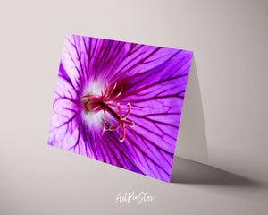 Cranesbill Geranium Flower Photo Art Customized Gift Cards
