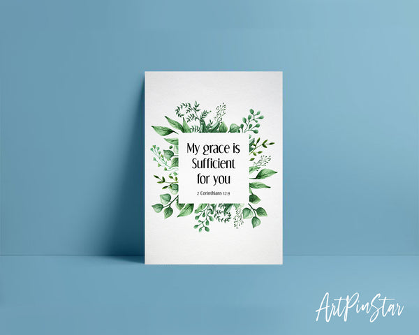 My grace is sufficient for you 2 Corinthians 12:9 Bible Verse Customized Greeting Card