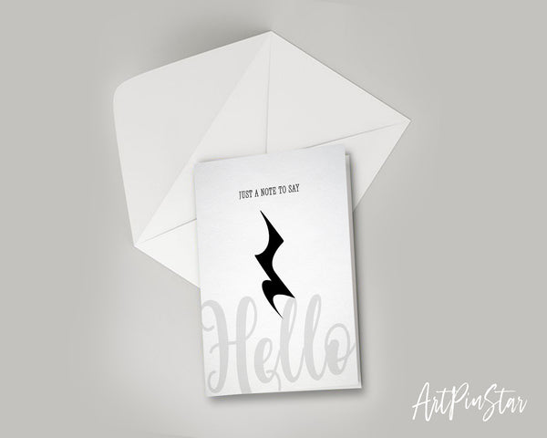 Just a note to say Hello Crotchet Rest Crotchet Rest Music Gift Ideas Customizable Greeting Card