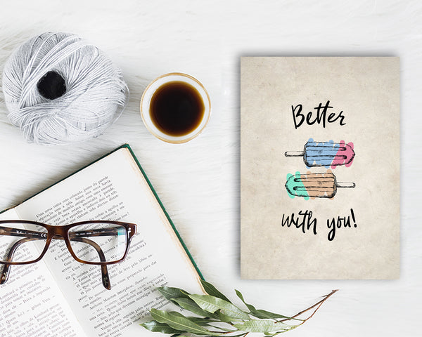 Better with you Food Customized Gift Cards