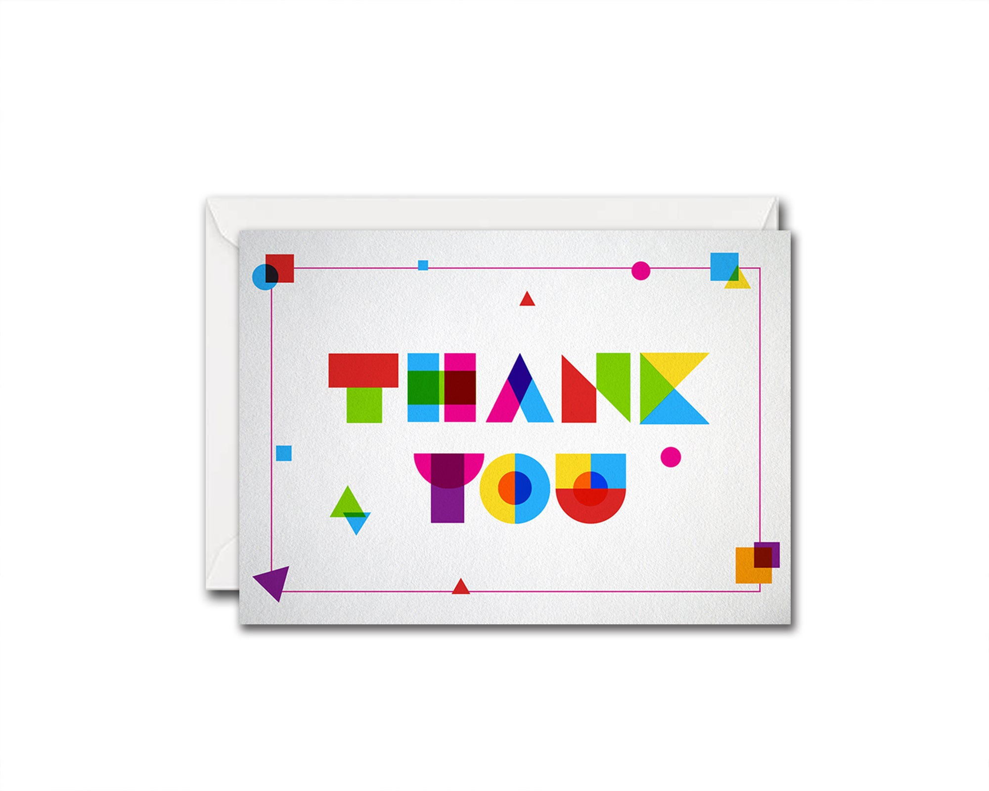Colorful Thank you Messages Note Cards