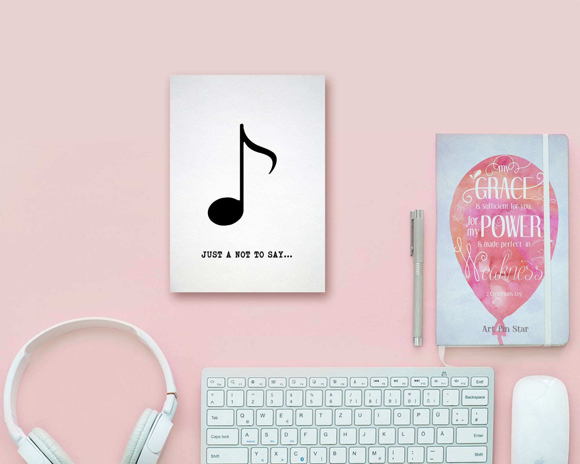 Just a little note to say Eighth Note Eighth Note Music Gift Ideas Customizable Greeting Card
