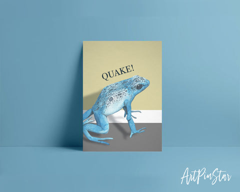 Quake Frog Animal Greeting Cards