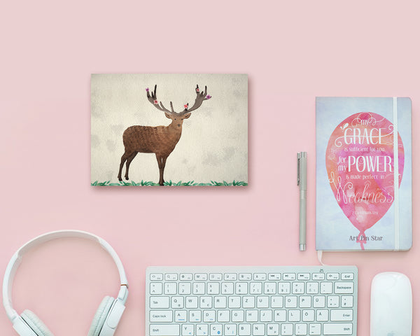 Deer Butterfly Animal Greeting Cards