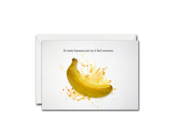 So tasty banana just try it feel summer Food Customized Gift Cards