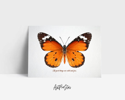 All good things are wild and free Butterfly Animal Greeting Cards
