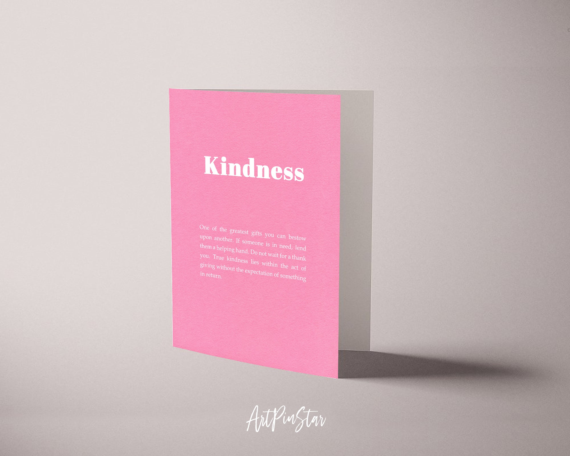 Kindness Life Quote Customized Greeting Cards