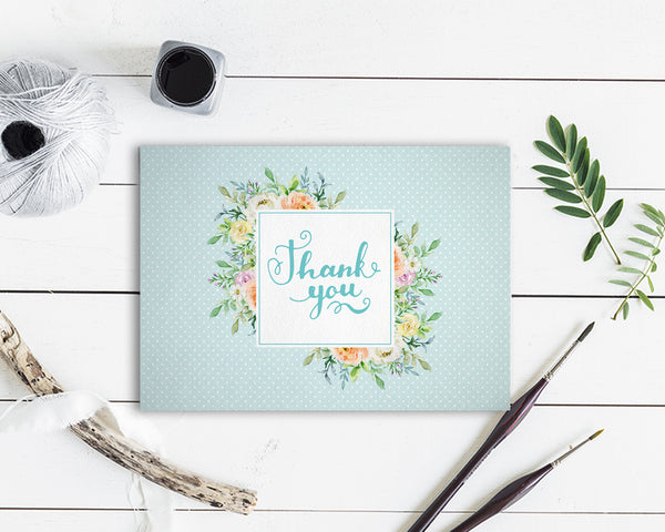 Thanks Watercolor Messages Note Cards