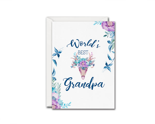 World's best grandpa Grandparents Occasion Greeting Cards