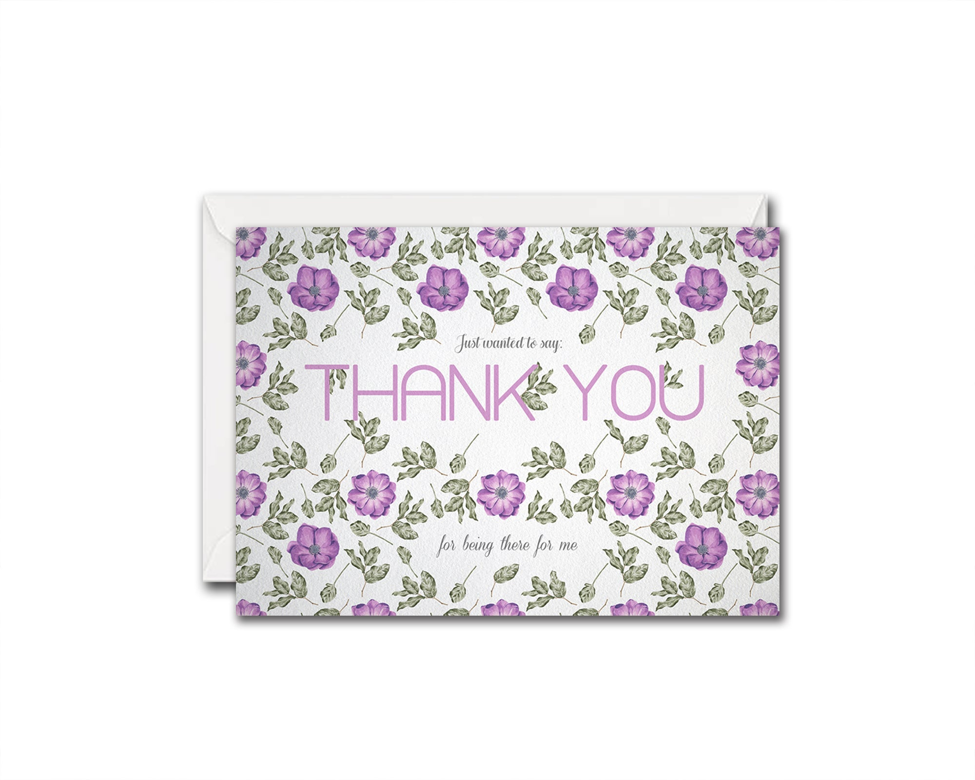 Just wanted to say thank you for being there for me Messages Note Cards