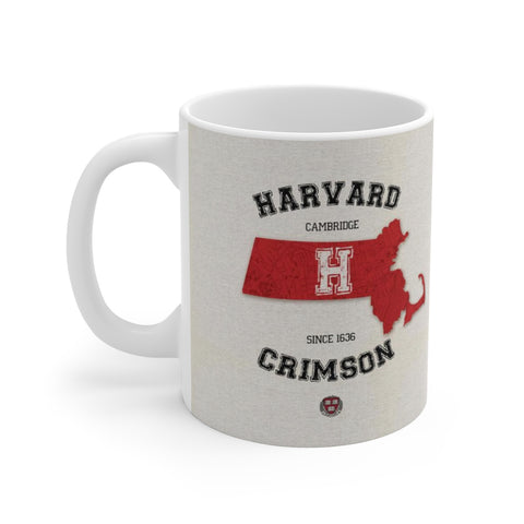 Congrats Graduation Harvard Crimson in Massachusetts White Ceramic Coffee Tea Mug Cup