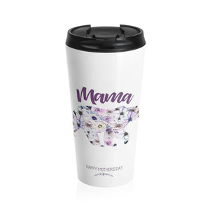 Mama Bear Mother's Day Gifts Stainless Steel Travel Mug 15oz