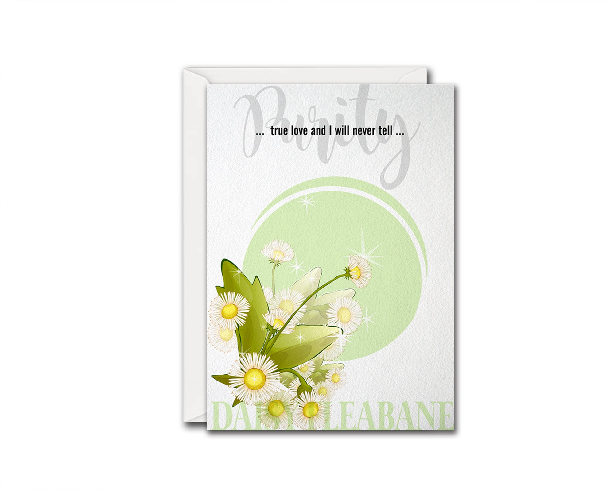 Daisy Fleabane Flower Meanings Symbolism Customized Gift Cards