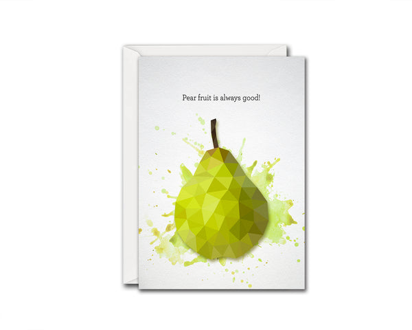 Pear fruite is always good Food Customized Gift Cards