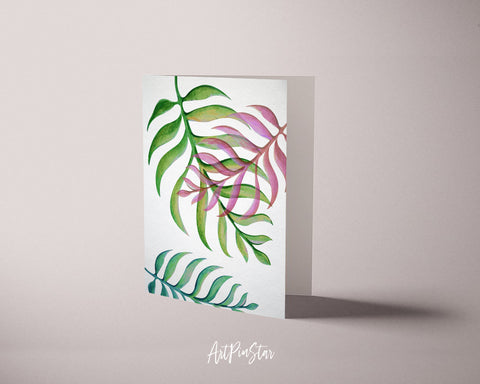 Jungle Element Botanical Garden Customized Greeting Card