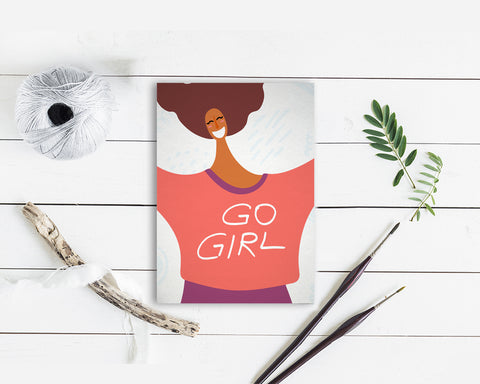 Go Girl Women Empowerment Customizable Greeting Card