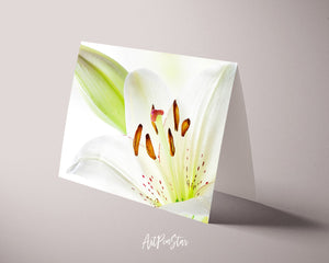 Lily Flower Photo Art Customized Gift Cards