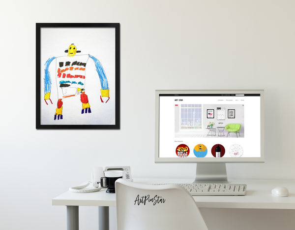 Robot colorful painting Kids Art