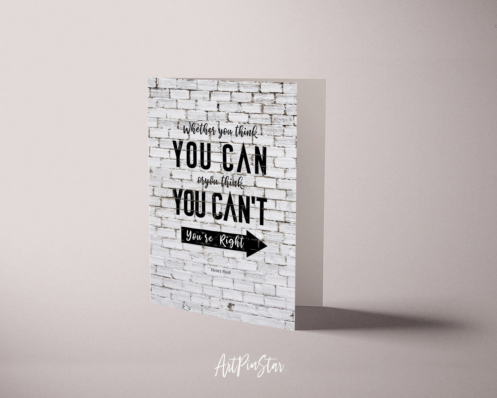 Whether you think you can Henry Ford Motivational Customized Greeting Card