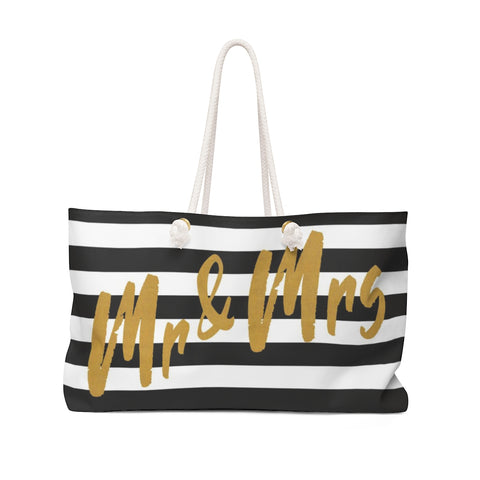 Mr. & Mrs. Weekender Tote Bag