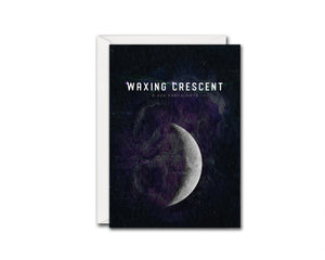 Waxing Crescent Moon Lunar Phases Customizable Greeting Card