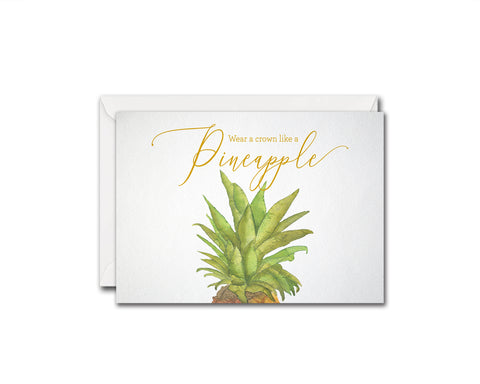 Wear a crown like a pineapple Food Customized Gift Cards